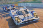 Porsche 917 motor racing painting and print