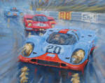 Gulf Porsche Le Mans painting and print