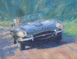 classic car painting Jaguar e-type