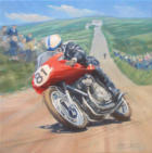 classic motorcycle artwork John Surtees MV Agusta
