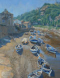 "Painting of Staithes North Yorkshire, oil on canvas 18"" x 14"""