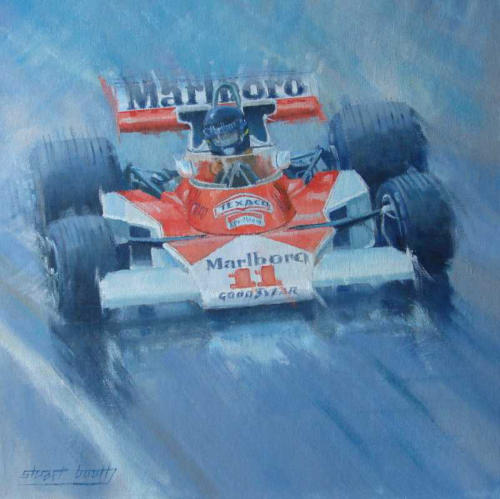 James Hunt McLaren oil painting
