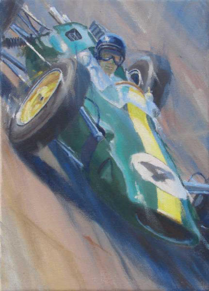 Jimmy Clark Lotus 25 artwork