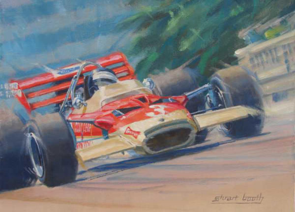 Jochen Rindt Lotus grand prix painting