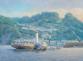 marine painting by motoring artist stuart booth