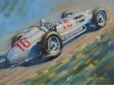 Mercedes W154 Silver Arrows painting