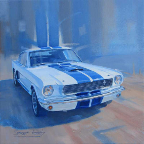 Auto painting Ford Shelby Mustang