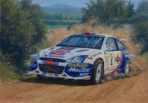 Ford Focus Rally Car Original Motoring Painting For Sale